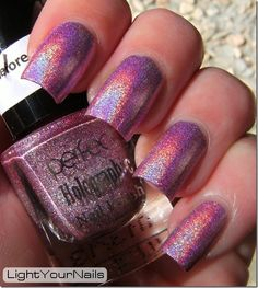 Light Your Nails! Perfect holographic H8
