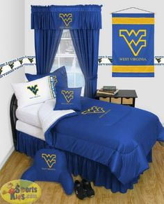 Sports Coverage West Virginia Mountaineers Locker Room Bedding Series Custom Package