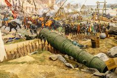 Huge Siege Cannon Used In The Final Assault And Fall Of Constantinople. Stock Photo, Picture And Royalty Free Image. Siege Of Constantinople, Warrior Paint, Ottoman Turks, Turkish Army, Ottoman Empire, World History, Military History, Middle Ages, Stock Photos