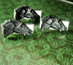 Victorian Style Enamel Erotic Risque Cufflinks 925 Sterling Silver Mens Gift