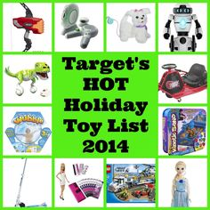 Target's HOT Christmas Holiday Toy List for 2014 is officially out! Start looking early for the best deals!