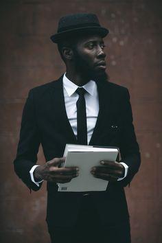 Black Suit & Tie #menswear