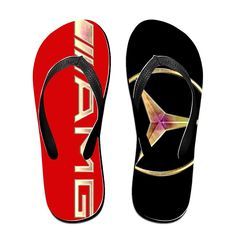 YYRBY Mercedes Racing Formula One Team Beach Flip-Flops Slipper Sandals ** Click on the image for additional details.