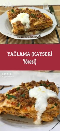 Yağlama (Kayseri Yöresi) Crepes, Deli, Cookie Recipes, Mashed Potatoes, Pizza, Dinner Recipes, Food And Drink, Health Fitness, Healthy Recipes