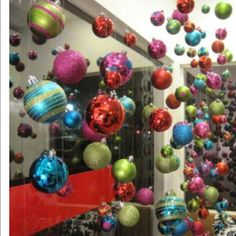 Christmas ornaments, floating