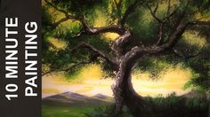 Today we paint an angel oak tree with a golden sky in just about 10 minutes! This is a real time acrylic landscape painting tutorial for beginners. Hour long...