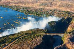 Zambia Victoria Falls by Vadim Petrakov Zimbabwe, Chutes Victoria, Safari, Largest Waterfall, World Travel Guide, Facts For Kids, Victoria Falls, Rare Birds, Wild Dogs