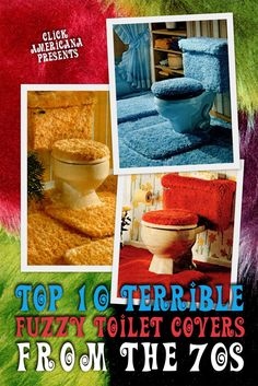 Check out these 10 fuzzy toilet covers from the '70s to see totally retro bathroom decor - Click Americana Retro Bathroom Decor, Vintage Bathrooms, Retro Home Decor, Vintage Decor, Kitsch, Retro Apron, Japanese Sewing, Shag Carpet, Modern Retro