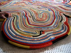 From our favorite Dutch design duo Tejo Remy and Rene VeenHuizen comes an awesome reclaimed material rug to cozy up to. Made from recycled blankets, the rug Recycled Blankets, Recycled Rugs, Recycled Art, Recycled Materials, Funky Rugs, Colorful Rugs, Diy Carpet, Rugs On Carpet, Diy Recycling