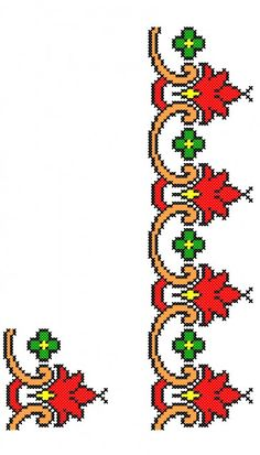 FL251 Cross Stitch Borders, Crochet Stitches, Projects To Try, Tapestry, Crafty, Embroidery, Floral, Herb, Dish Towels