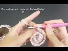 No Roll Rose crochet flower tutorial   Qays Design