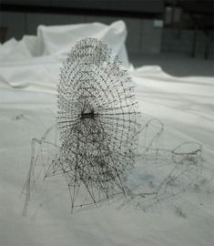 Out of Disorder:  Intricate Thread Sculptures by Takahiro Iwasaki