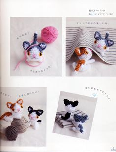 Amigurumi Kittens - FREE Crochet Pattern / Tutorial (click on right arrow to get to free chart)