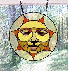 Sun Face Stained Glass Pattern | Sun Face Window