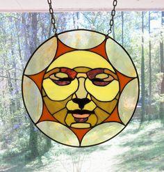 Sun Face Stained Glass Pattern | Sun Face Window