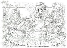 ぬりえ「姫・プリンセスローゼ」