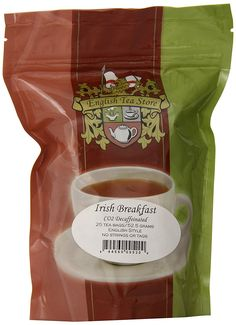 English Tea Store Irish Breakfast CO2 Decaffeinated Teabags, 25 Count * See this great product. (This is an affiliate link and I receive a commission for the sales)