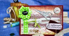 scrapbooking / kartka z życzeniami dla krawcowej / greeting card for tailor