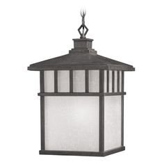 Barton 1 Light Exterior Hanging shown in Olde World Iron by Dolan Designs - 9114-34