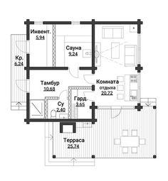 Проект CKD-80 | Дома из клееного бруса от компании «СКД-дом»