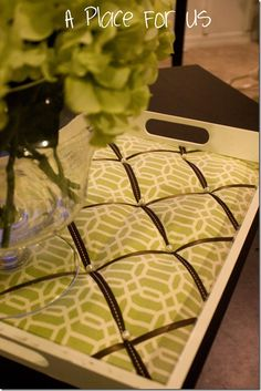 Tufted serving tray