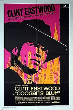 Coogan's Bluff 1968 Original US One Sheet Movie Poster by Vintage Movie Posters, via Flickr
