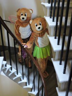 Our VIB's taking the servant's stairs to join the party in the Dining Room at Culzean Castle.  Fantastic day for the Teddy Bear picnic!