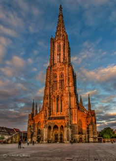 Cathedral in Gold by PHOTONPHOTOGRAPHY  - Viktor Lakics - The world tallest church - Ulm - Germany