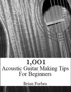 This is my new book on acoustic guitar making. It's loaded with 1,001 tips that will help any beginner make a better guitar on their first round. The tips are broken into sections of the guitar, and they are quick, easy ways to increase your guitar making knowledge. Enjoy.