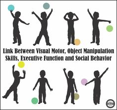 Research Quarterly for Exercise and Sport published research on 92, three to five year old children to establish a link between early visual-motor integration skills and executive function and a link between early object manipulation skills and social behaviors in the classroom during the preschool years.  Each participant was evaluated for visual-motor integration skills, object manipulation skills, […] Visual Perceptual Activities, Gross Motor Activities, Therapy Activities, Ot Therapy, Vision Therapy, Therapy Ideas, Speech Language Therapy, Speech And Language, Learning Tips