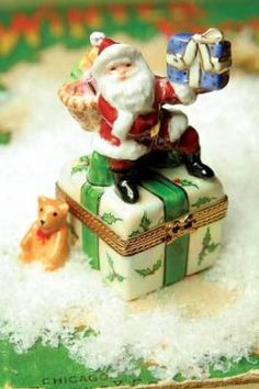 "authentic french limoges ""santa clause & teddy""...so delicate"