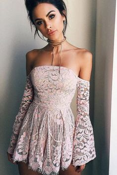 Long Sleeve Homecoming Dresses,Party Dresses,Short Prom Dress,Cheap Evening Dress for Girls,Off Shoulder Long Sleeves Pink Short prom dresses,Homecoming dresses,SH20