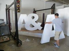 eps foam large dimensional letters by wecutfoam