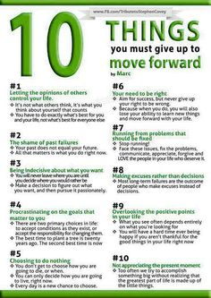 10 things to give up so you can thrive. Want to learn more? www.existentialcoaching.net