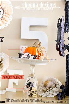 Rhonna DESIGNS: Ideas No. 17 & 18: 31 Halloween Ideas w/ Rhonna Designs: Spooky Jar Scenes & Vignettes