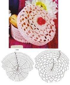 Free Crochet Bag, Crochet Bowl, Crochet Gratis, Crochet Purses, Crochet Motif, Crochet Patterns, Diy Crafts Crochet, Crochet Projects, Diy Crafts Images