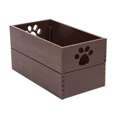 Attrayant Dynamics Home Indoor Wooden Dog Essential Doll Storage Bin Organizer Pet Toy  Box Mahogany Dynamic Accents