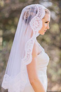 marisol aparicio bridal accessories alencon lace mantilla veil