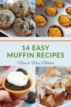 These easy muffins recipes are great for a to-go snack or breakfast for anyone with a busy life! Perfect for meal prep! #mealpreprecipes #muffinrecipeseasy #quickandeasymuffinrecipes #muffinsforkids #kidfriendlyrecipes Blueberry Yogurt Muffins, Healthy Chocolate Muffins, Muffin Recipes, Breakfast Recipes, Snack Recipes, Dessert Recipes, Easy Snacks, Healthy Snacks, Simple Muffin Recipe