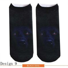 ankle socks 3D printing cute dog lovely elastic short ship for lady girl women female Unisex Wh