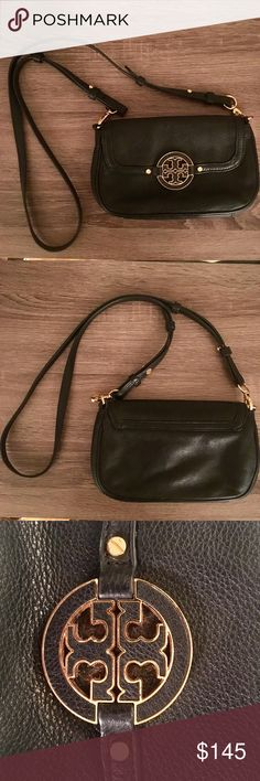 Authentic Tory Burch Amanda crossbody Great bag in great condition! Authentic Tory Burch Amanda crossbody. Perfect purse for going out. Hidden-magnetic closure, adjustable strap, three interior card slots Tory Burch Bags Crossbody Bags