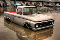 nice ford f 100 pickup this truck cannot negotiate speed bumps or move fwd as it is sitting on the ground. Maybe it floats like a boat. Bagged Trucks, Lowered Trucks, Mini Trucks, Hot Rod Trucks, Cool Trucks, Chevy Trucks, Pickup Trucks, Cool Cars, Chevy C10