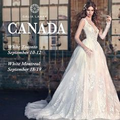 Get ready for our Canada trunk show! Don't forget to Reserve a seat ! it's almost fully booked ! @whitetoronto #StylishBrides 416-849-9196 , See you there,  xoxo