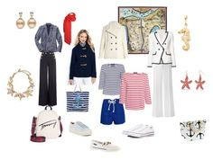 """Sea"" by ira-trutneva on Polyvore featuring мода, Gucci, Tomas Maier, Saint James, Boohoo, Tommy Hilfiger, Veronica Beard, RED Valentino, Gap и Marc Fisher LTD"