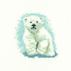 Polar Bear Cub | Heritage Crafts Counted Cross Stitch Kit