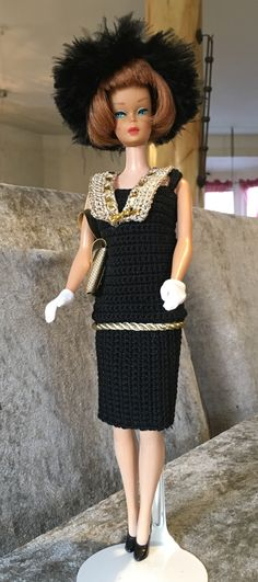 BARBIE IN THE 1920. OOAK OUTFIT BY L8