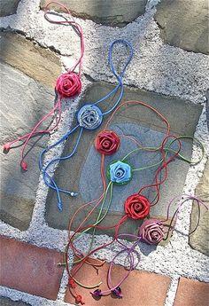Strangolini Necklace Da Donna Fatti A Mano In Pelle Roses
