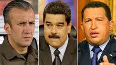 Tareck El Aissami, Nicolás Maduro y Hugo Chávez