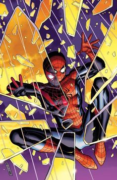 #Spiderman #Fan #Art. (Spider Men Vol.1 #2 of 5 Variant Covers) By: Sara Pichelli. (THE * 5 * STÅR * ÅWARD * OF: * AW YEAH, IT'S MAJOR ÅWESOMENESS!!!™)[THANK Ü 4 PINNING<·><]<©>