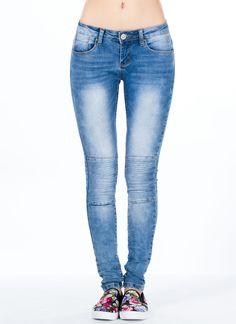 Stitch Gears Moto Skinny Jeans - GoJane.com